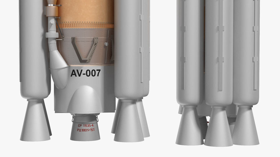 Space Rockets Collection royalty-free 3d model - Preview no. 22