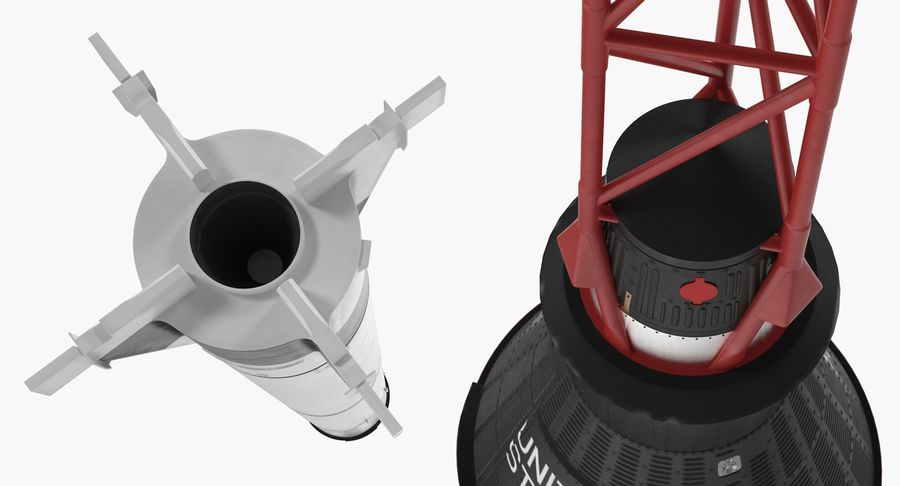 Space Rockets Collection royalty-free 3d model - Preview no. 46