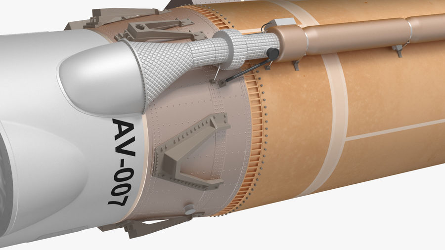 Space Rockets Collection royalty-free 3d model - Preview no. 13