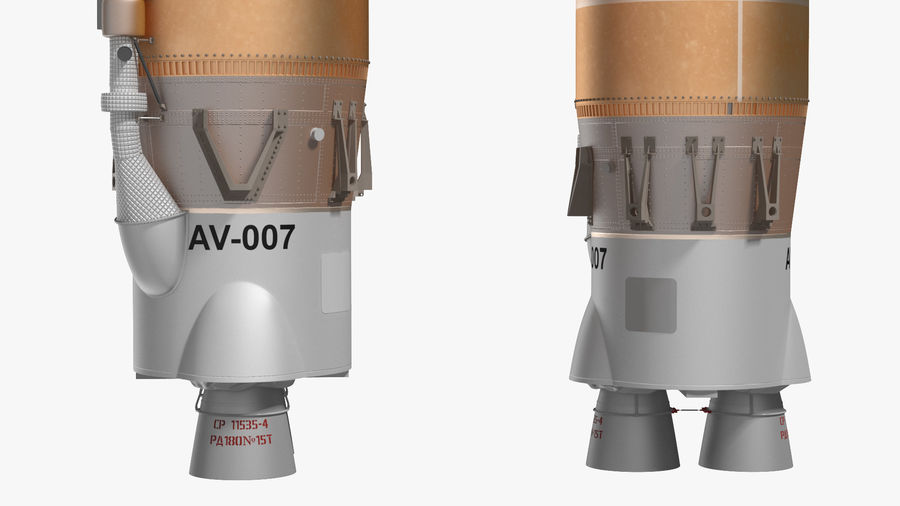 Space Rockets Collection royalty-free 3d model - Preview no. 10