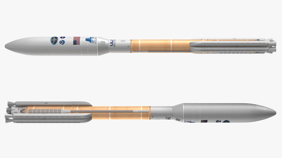 Space Rockets Collection royalty-free 3d model - Preview no. 17