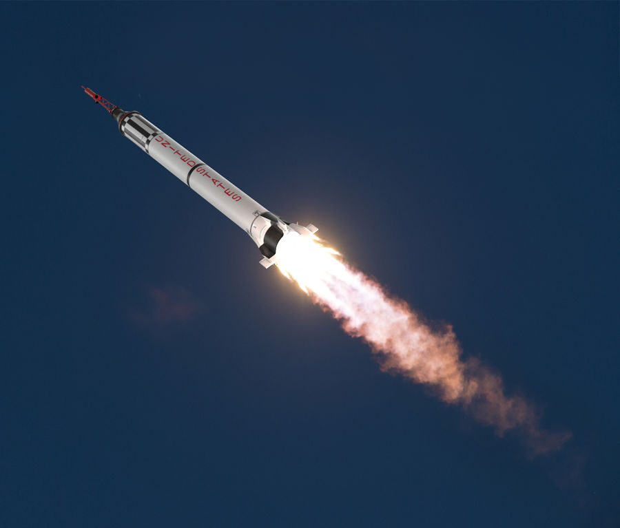Space Rockets Collection royalty-free 3d model - Preview no. 41