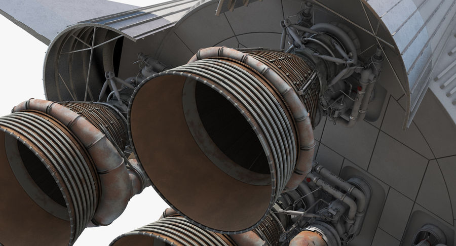 Space Rockets Collection royalty-free 3d model - Preview no. 39