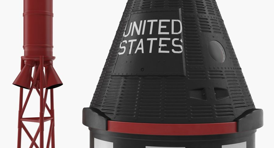 Space Rockets Collection royalty-free 3d model - Preview no. 47