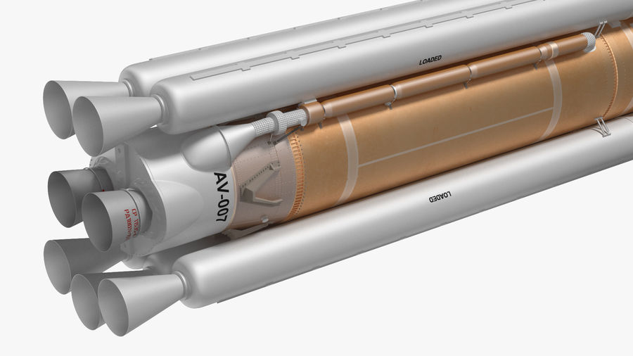 Space Rockets Collection royalty-free 3d model - Preview no. 23