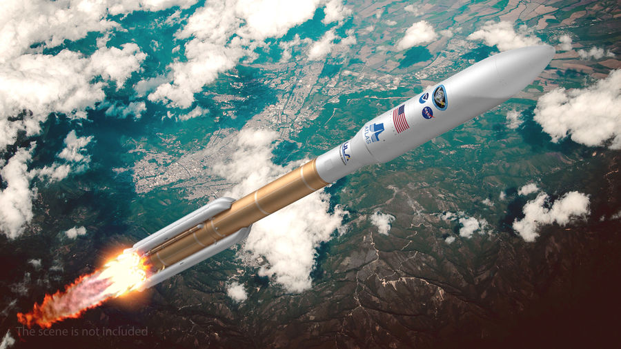 Space Rockets Collection royalty-free 3d model - Preview no. 4