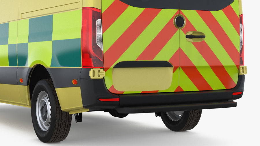 Emergency Ambulance Generic royalty-free 3d model - Preview no. 16