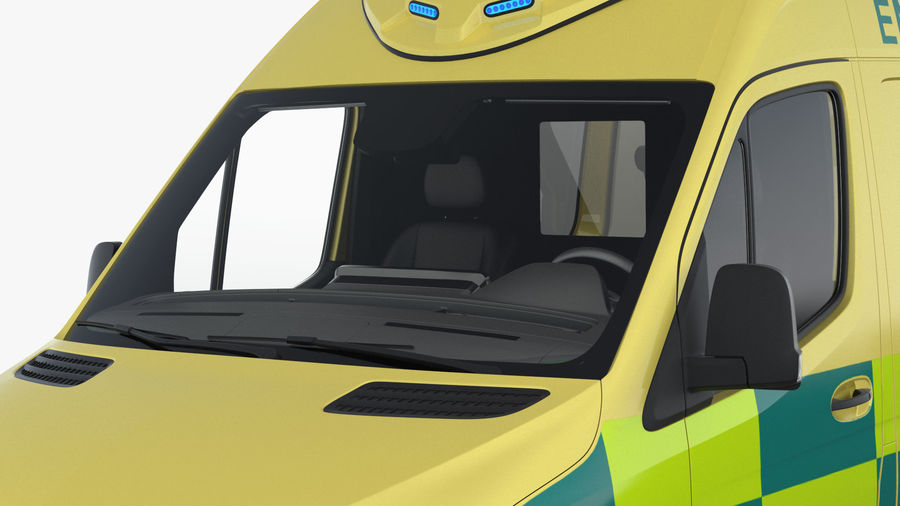 Emergency Ambulance Generic royalty-free 3d model - Preview no. 9