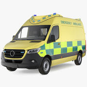 Emergency Ambulance Generic 3d model