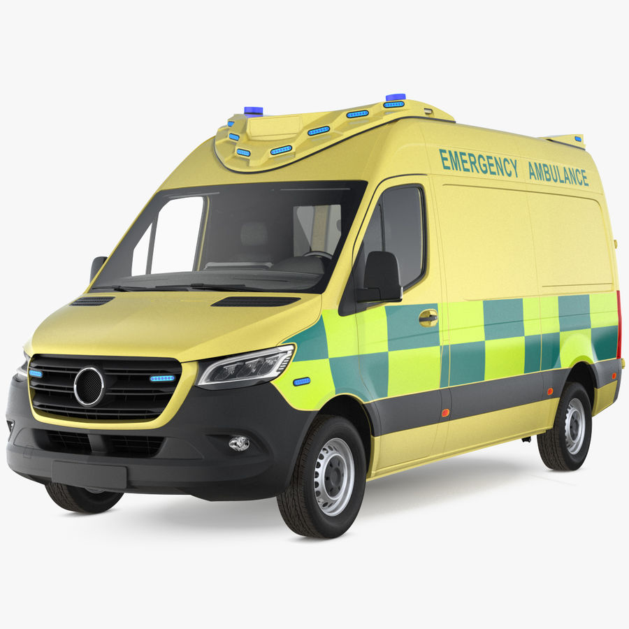 Emergency Ambulance Generic royalty-free 3d model - Preview no. 1