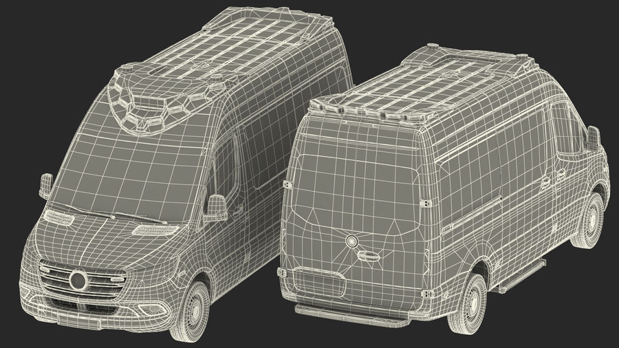 Emergency Ambulance Generic royalty-free 3d model - Preview no. 39