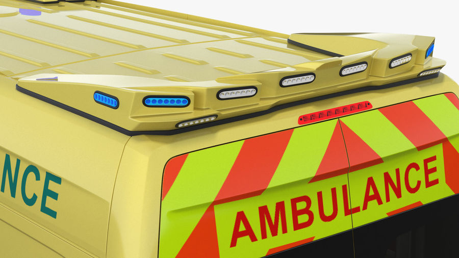 Emergency Ambulance Generic royalty-free 3d model - Preview no. 17