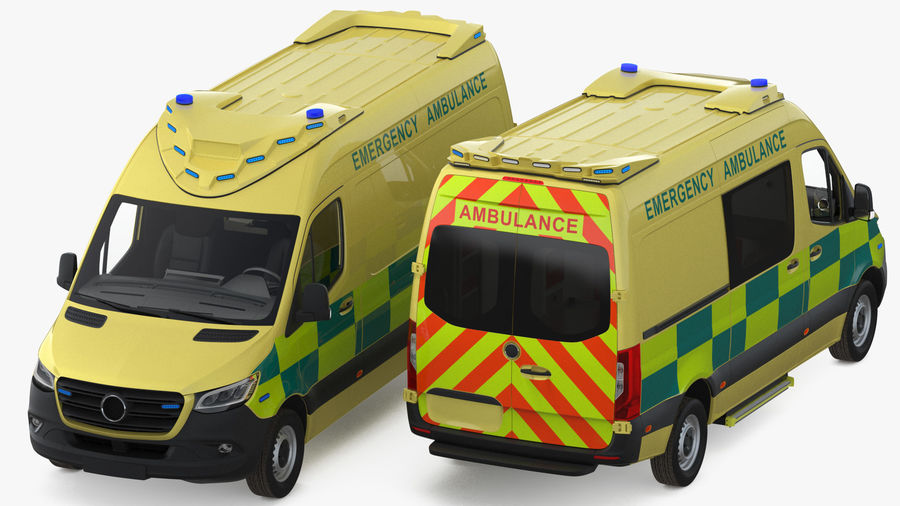 Emergency Ambulance Generic royalty-free 3d model - Preview no. 5