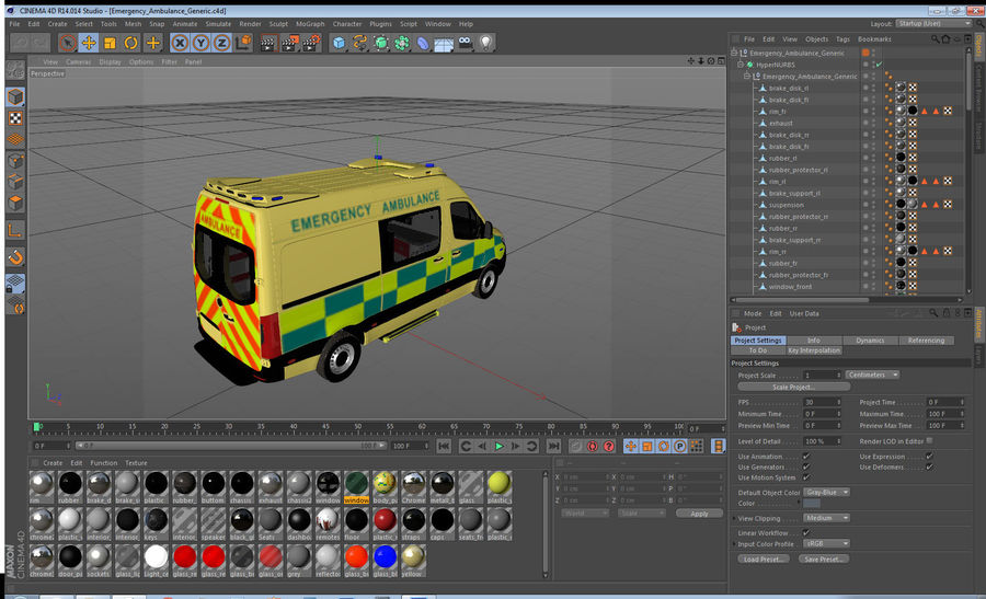 Emergency Ambulance Generic royalty-free 3d model - Preview no. 27