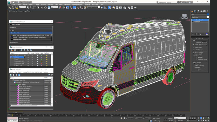 Emergency Ambulance Generic royalty-free 3d model - Preview no. 28