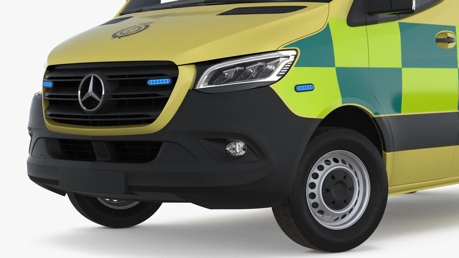 Mercedes Benz Sprinter Emergency Ambulance royalty-free 3d model - Preview no. 10