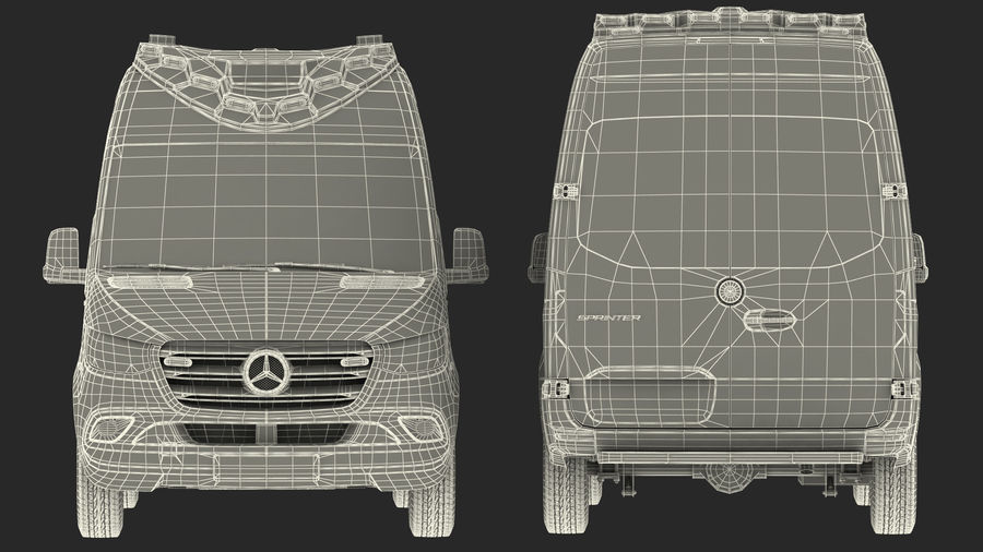 Mercedes Benz Sprinter Emergency Ambulance royalty-free 3d model - Preview no. 39