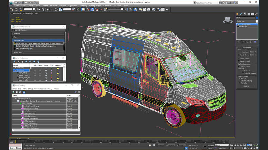 Mercedes Benz Sprinter Emergency Ambulance royalty-free 3d model - Preview no. 28