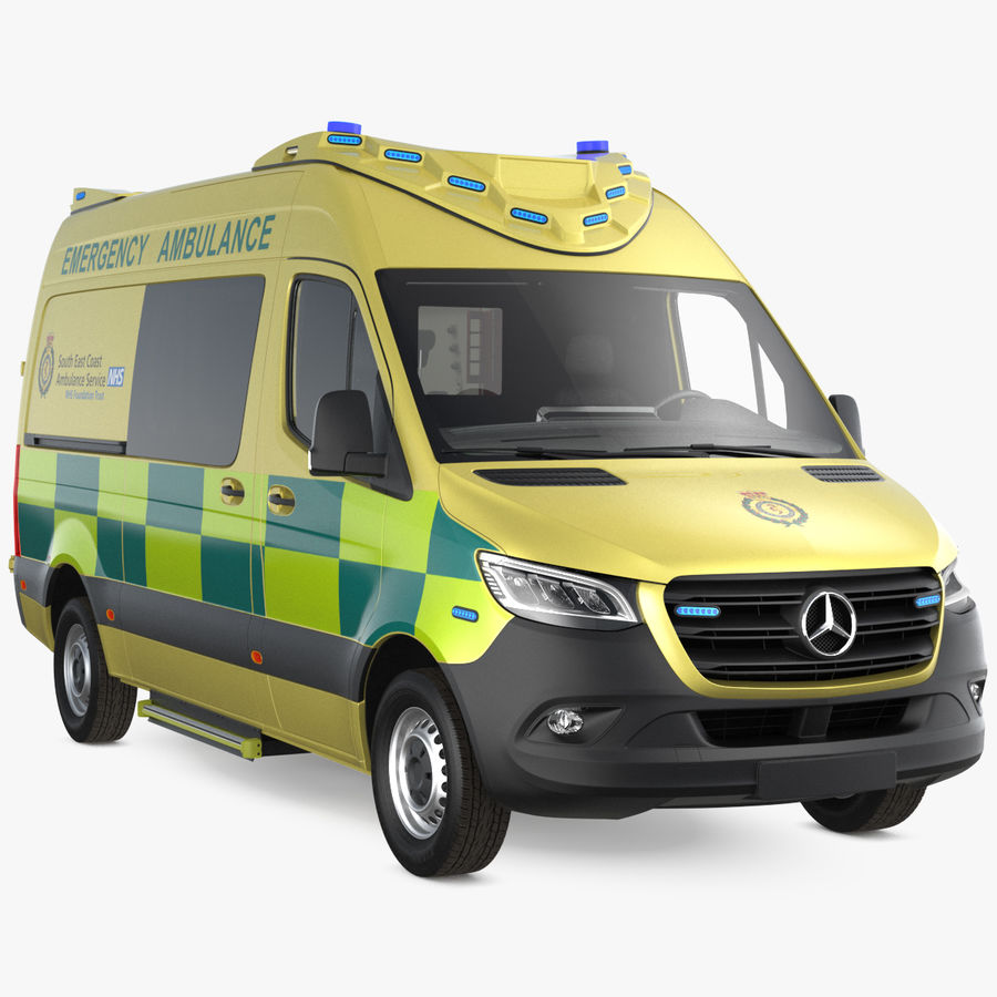 Mercedes Benz Sprinter Emergency Ambulance royalty-free 3d model - Preview no. 1