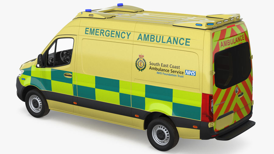 Mercedes Benz Sprinter Emergency Ambulance royalty-free 3d model - Preview no. 18