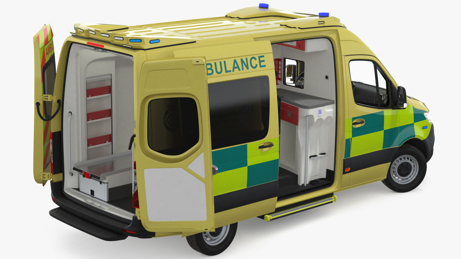 Mercedes Benz Sprinter Emergency Ambulance royalty-free 3d model - Preview no. 4