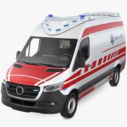 現代の救急救急車 3d model