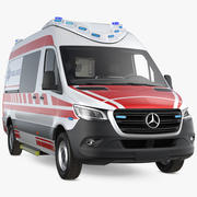 Paramedic Mercedes Benz Sprinter Ambulance 3d model