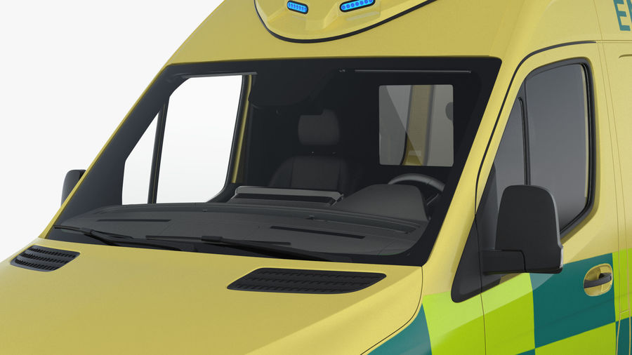 Emergency Ambulance Rigged royalty-free 3d model - Preview no. 9