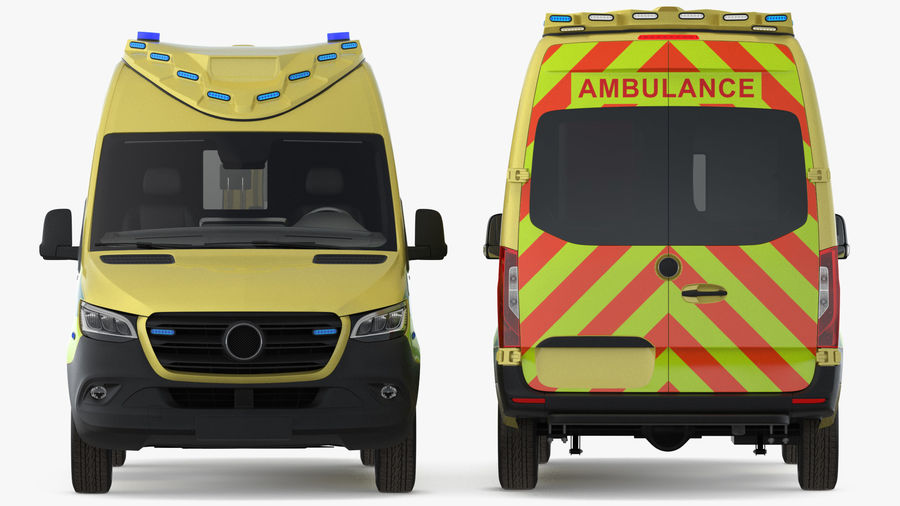 Emergency Ambulance Rigged royalty-free 3d model - Preview no. 21
