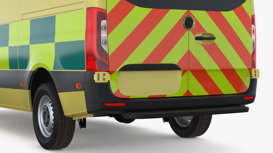 Emergency Ambulance Rigged royalty-free 3d model - Preview no. 15