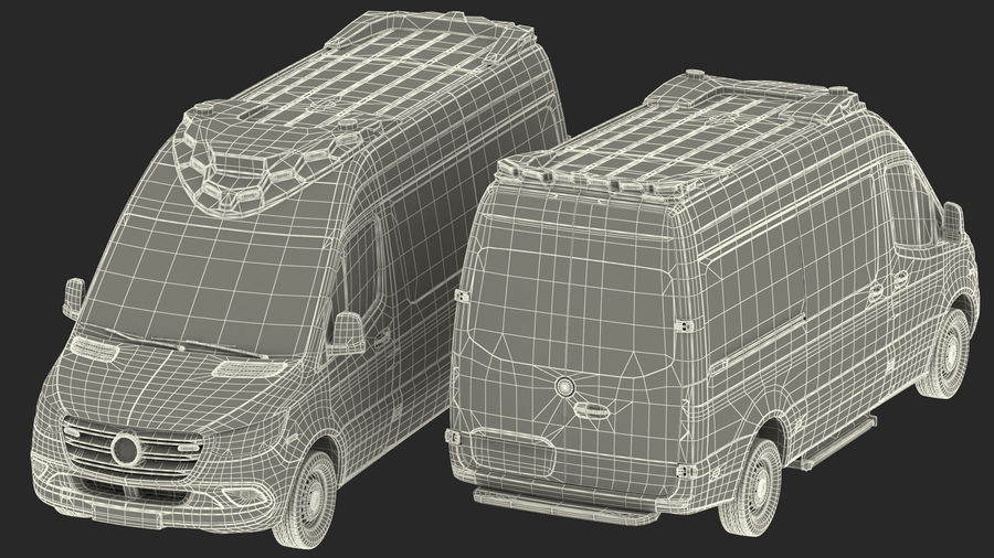 Emergency Ambulance Rigged royalty-free 3d model - Preview no. 38