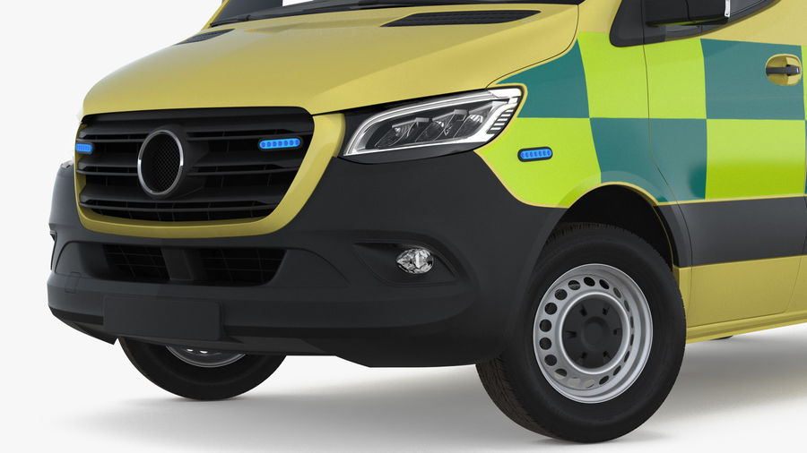 Emergency Ambulance Rigged royalty-free 3d model - Preview no. 8