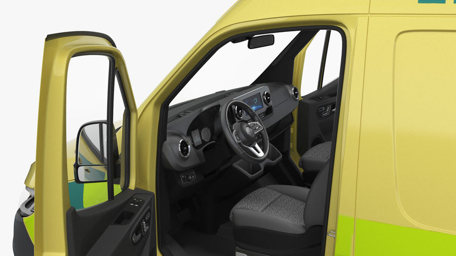 Emergency Ambulance Rigged royalty-free 3d model - Preview no. 11