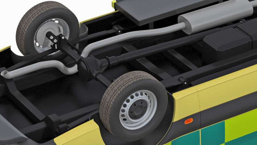 Emergency Ambulance Rigged royalty-free 3d model - Preview no. 24