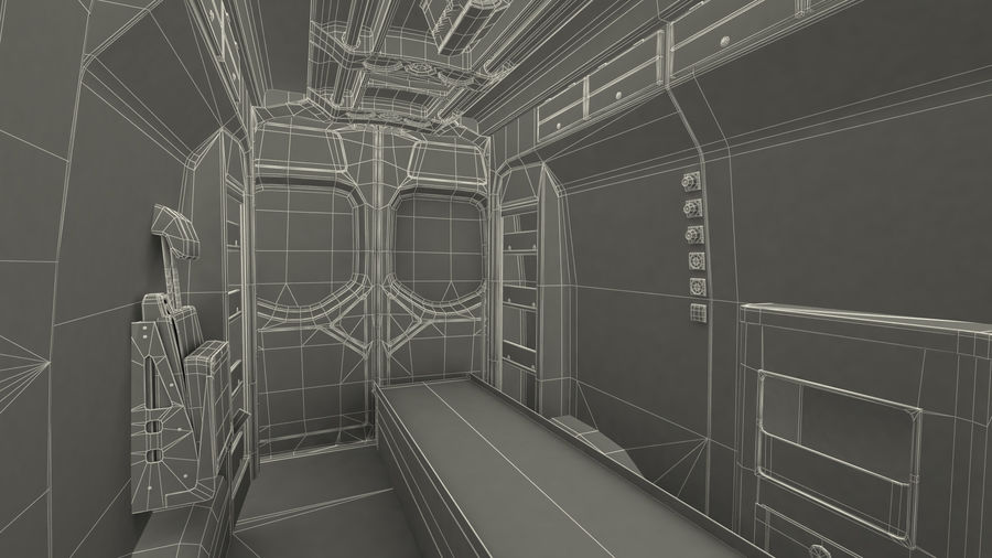 Emergency Ambulance Rigged royalty-free 3d model - Preview no. 33