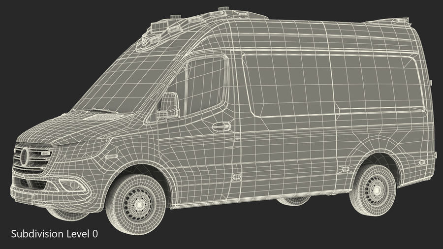 Emergency Ambulance Rigged royalty-free 3d model - Preview no. 25