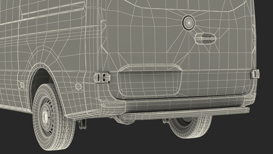 Emergency Ambulance Rigged royalty-free 3d model - Preview no. 36