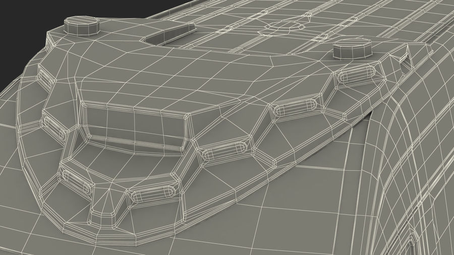 Emergency Ambulance Rigged royalty-free 3d model - Preview no. 37