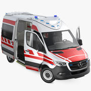 Mercedes Benz Sprinter Paramedic Ambulance Rigged 3d model