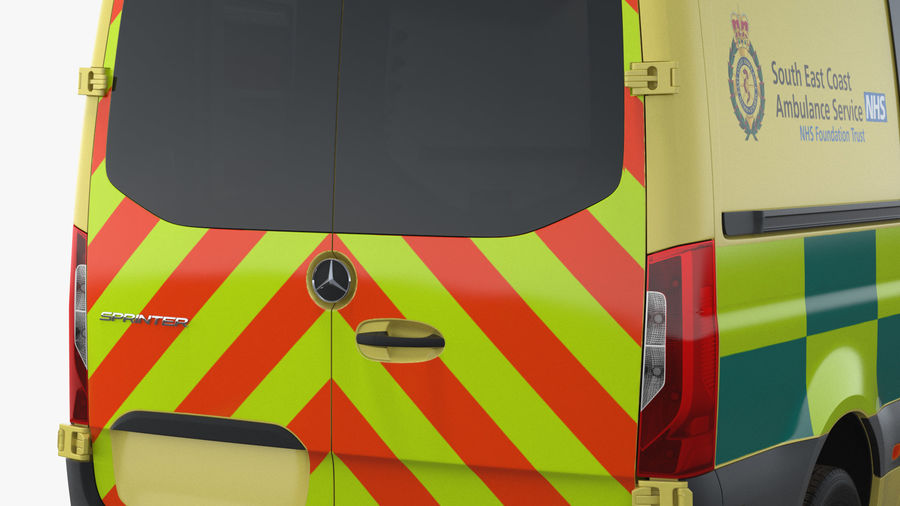 Meredes Benz Sprinter Emergency Ambulance Rigged royalty-free 3d model - Preview no. 19