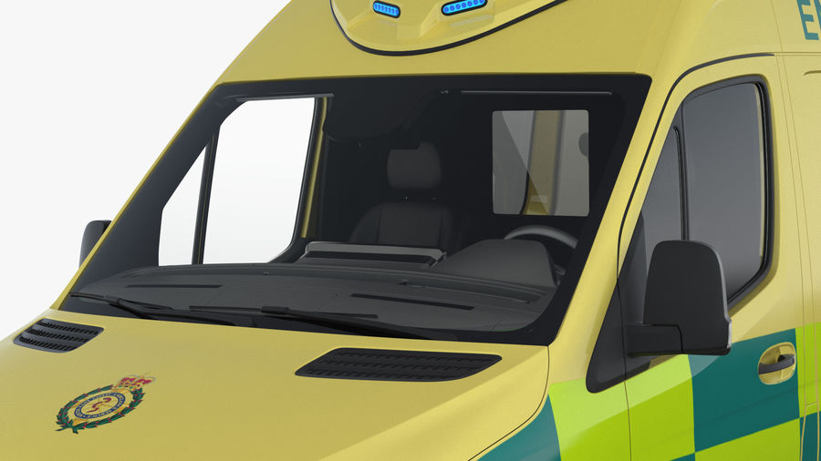 Meredes Benz Sprinter Emergency Ambulance Rigged royalty-free 3d model - Preview no. 9