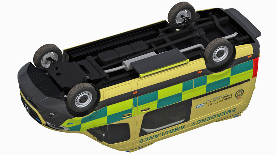 Meredes Benz Sprinter Emergency Ambulance Rigged royalty-free 3d model - Preview no. 22