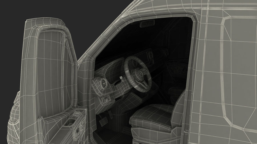 Meredes Benz Sprinter Emergency Ambulance Rigged royalty-free 3d model - Preview no. 35
