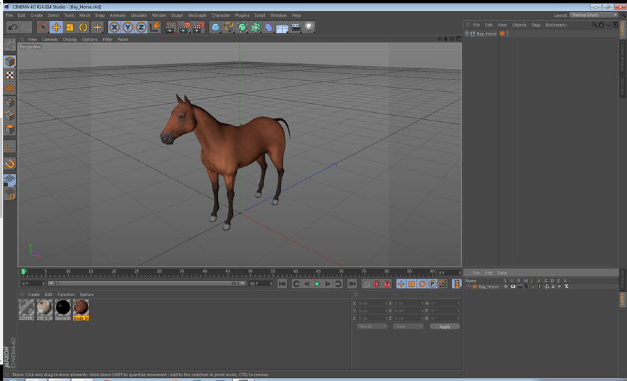 Bay Horse royalty-free 3d model - Preview no. 22