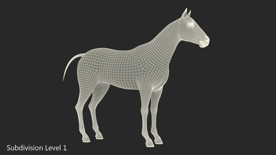 Bay Horse royalty-free 3d model - Preview no. 18