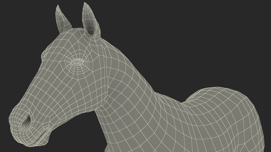 Bay Horse royalty-free 3d model - Preview no. 27