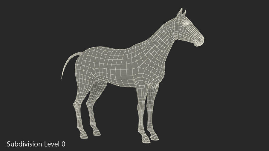 Bay Horse royalty-free 3d model - Preview no. 17