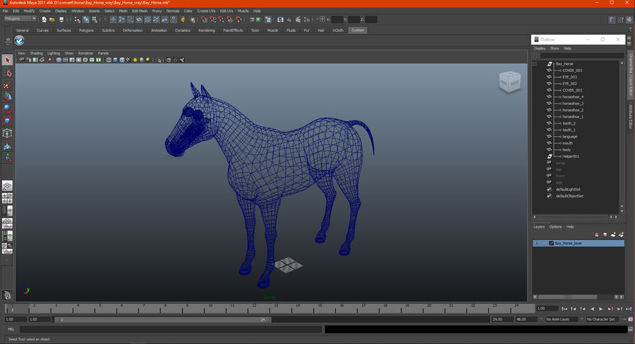Bay Horse royalty-free 3d model - Preview no. 21