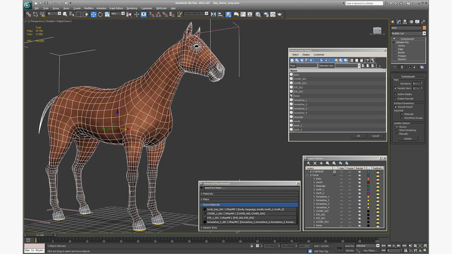 Bay Horse royalty-free 3d model - Preview no. 23