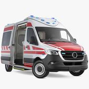 救急救急車が装備 3d model